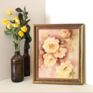 Vintage roses art framed